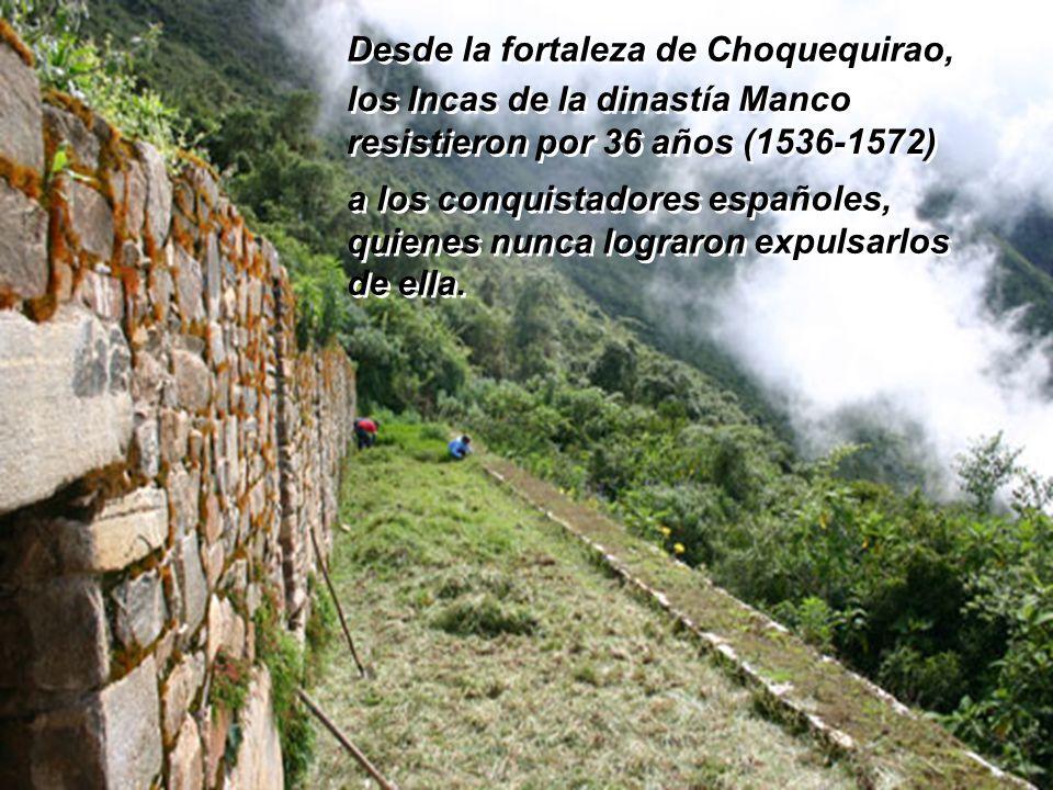 Desde la fortaleza de Choquequirao,