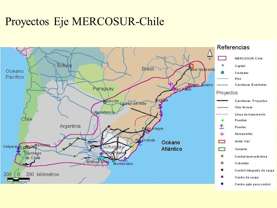 Proyectos Eje MERCOSUR-Chile