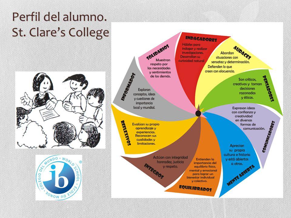 Perfil del alumno. St. Clare's College