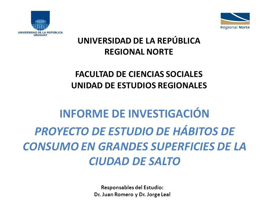 Responsables del Estudio: Dr. Juan Romero y Dr. Jorge Leal