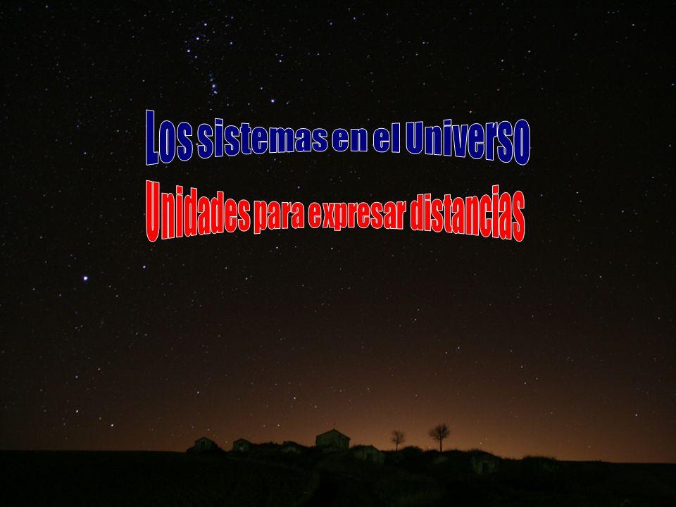Los sistemas en el Universo Unidades para expresar distancias