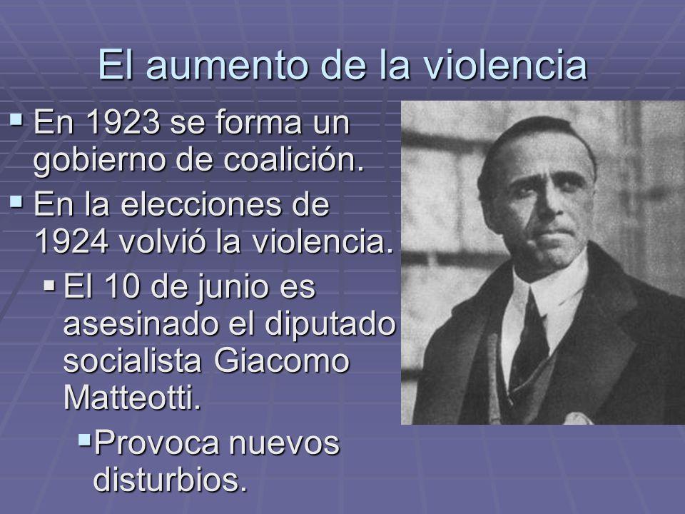 El aumento de la violencia