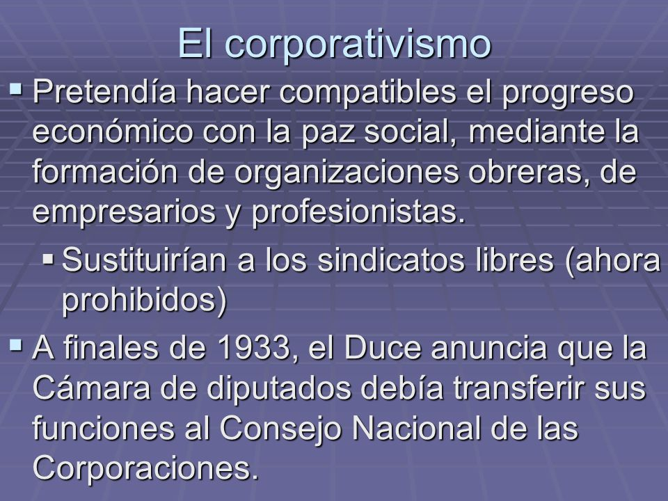 El corporativismo