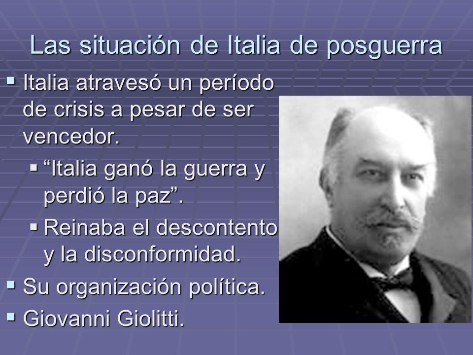 Las situación de Italia de posguerra