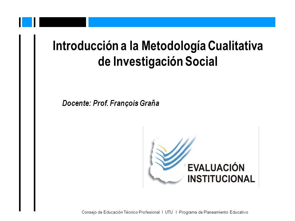 Introducción a la Metodología Cualitativa de Investigación Social