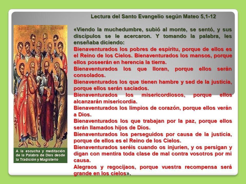 Lectura del Santo Evangelio según Mateo 5,1-12