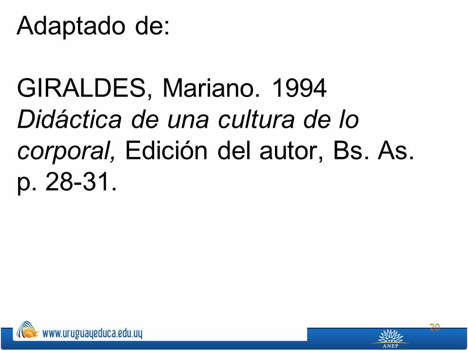 Adaptado de: GIRALDES, Mariano