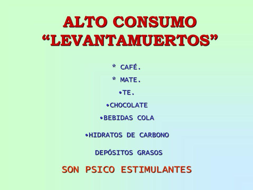 ALTO CONSUMO LEVANTAMUERTOS