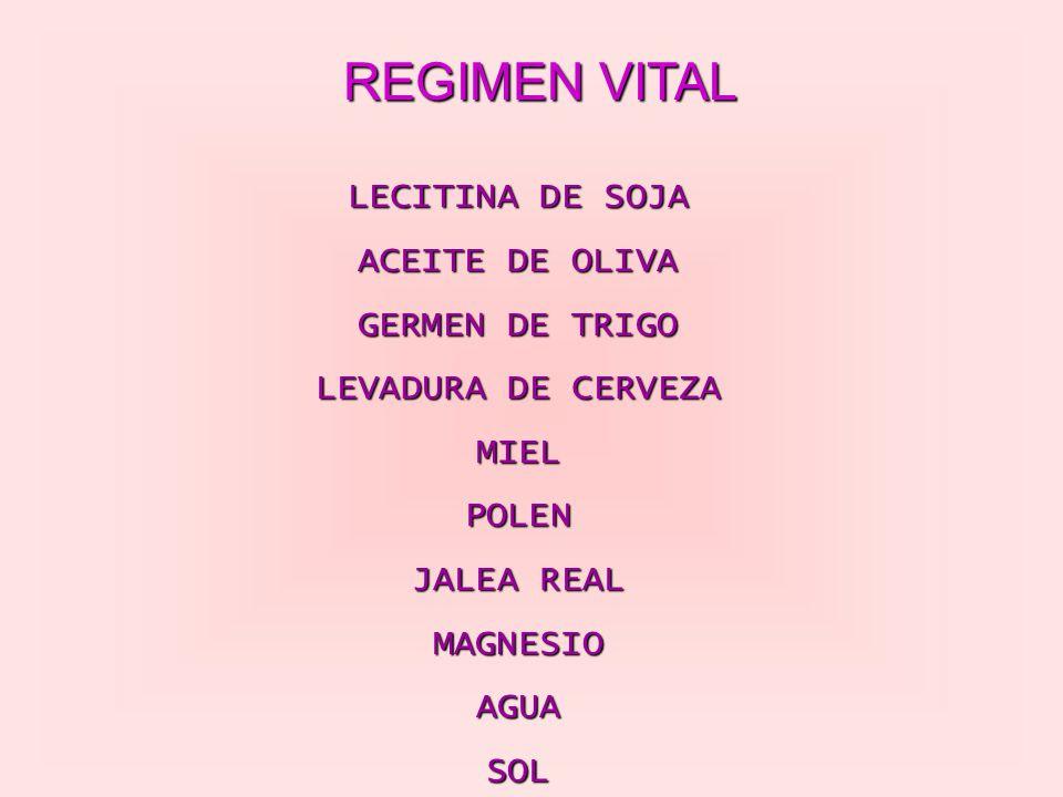 REGIMEN VITAL LECITINA DE SOJA ACEITE DE OLIVA GERMEN DE TRIGO