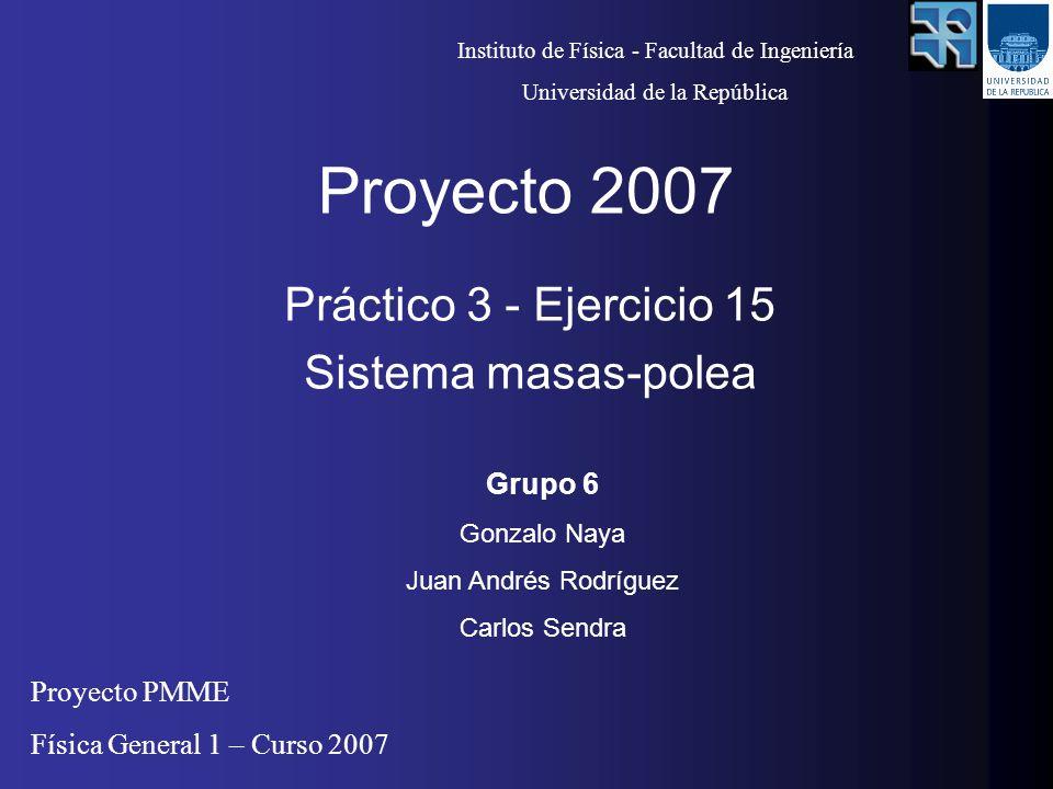 Práctico 3 - Ejercicio 15 Sistema masas-polea