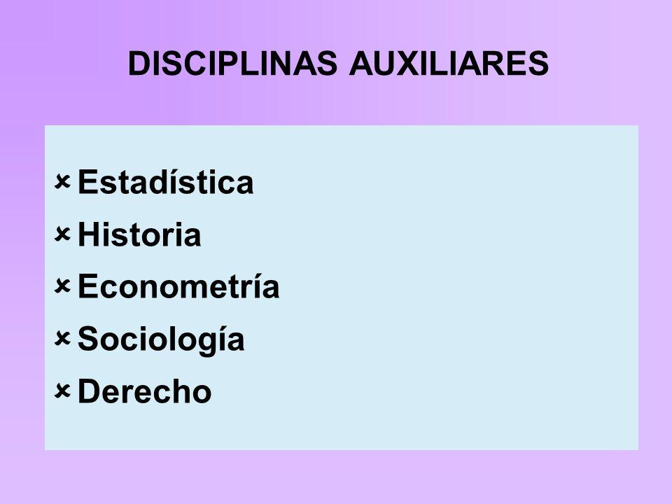 DISCIPLINAS AUXILIARES
