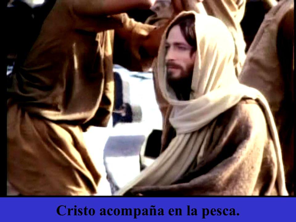 Cristo acompaña en la pesca.
