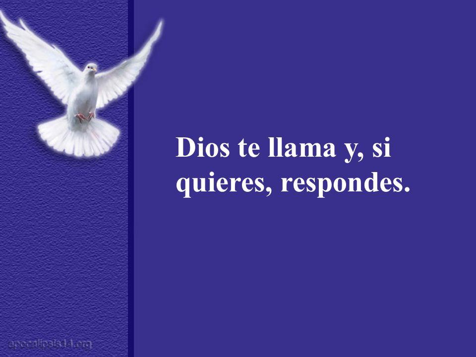 Dios te llama y, si quieres, respondes.