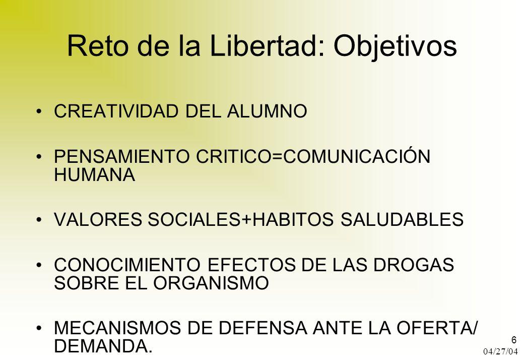 Reto de la Libertad: Objetivos