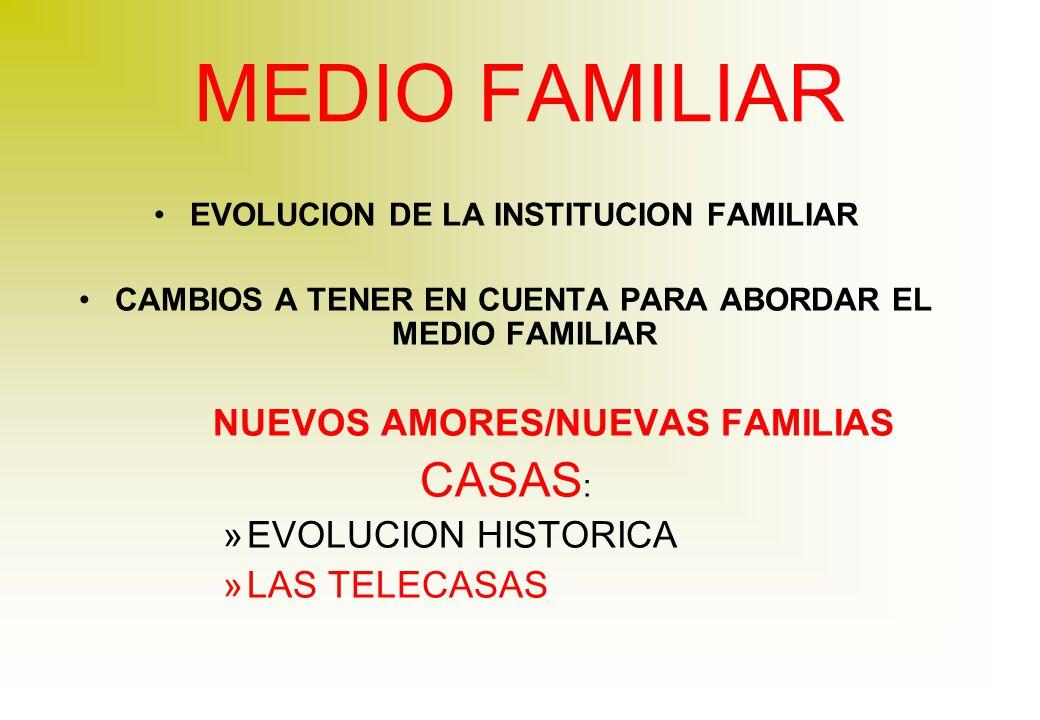 MEDIO FAMILIAR CASAS: NUEVOS AMORES/NUEVAS FAMILIAS