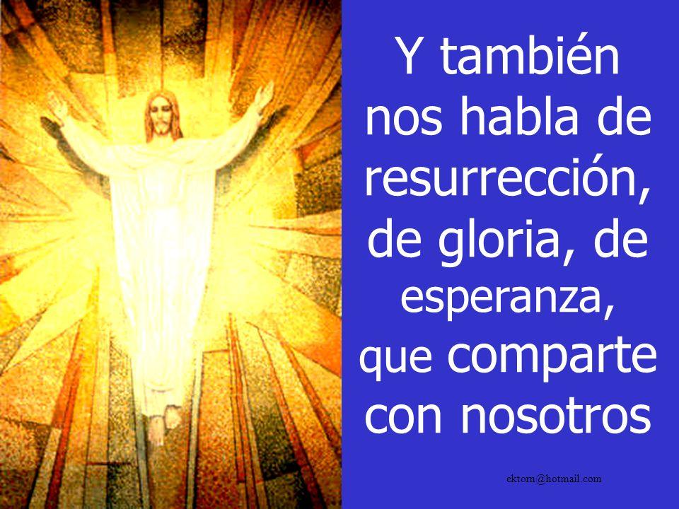 Y también nos habla de resurrección, de gloria, de esperanza, que comparte con nosotros