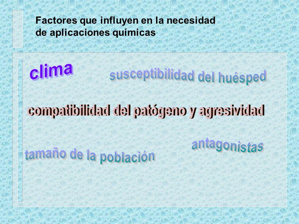 susceptibilidad del huésped compatibilidad del patógeno y agresividad