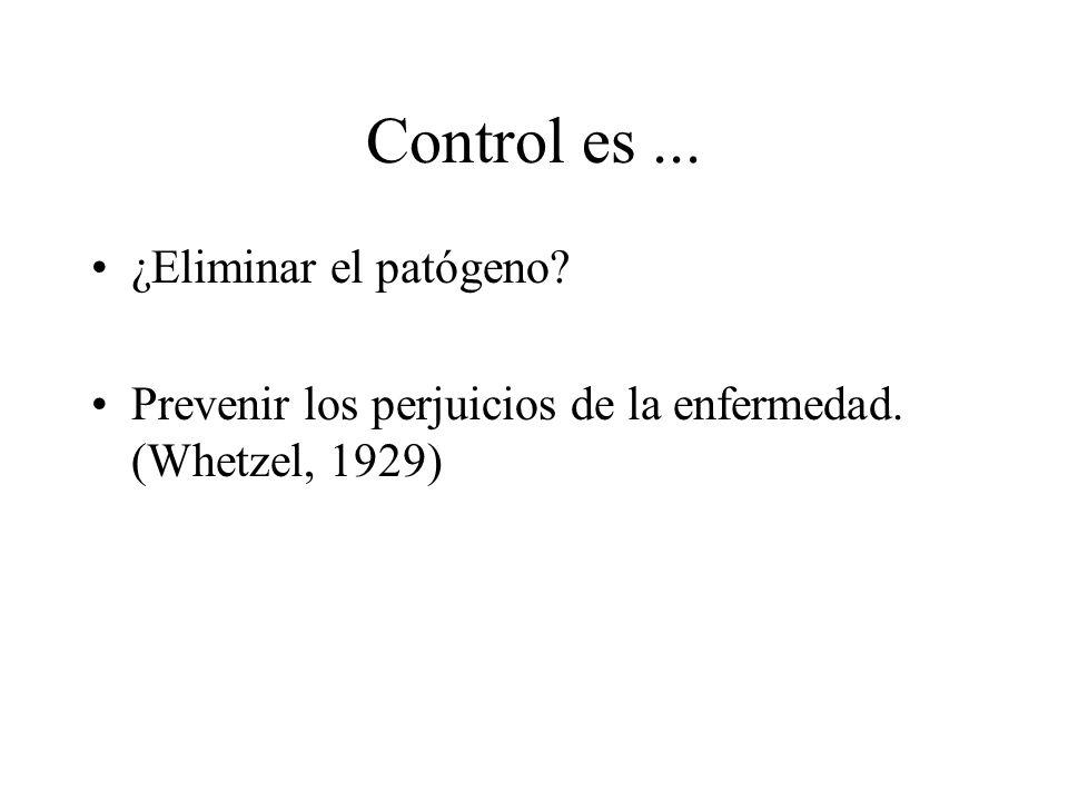 Control es ... ¿Eliminar el patógeno