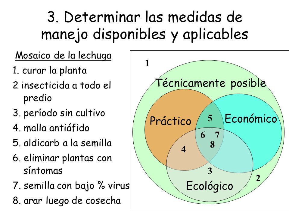 3. Determinar las medidas de manejo disponibles y aplicables