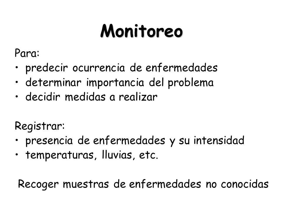 Monitoreo Para: predecir ocurrencia de enfermedades