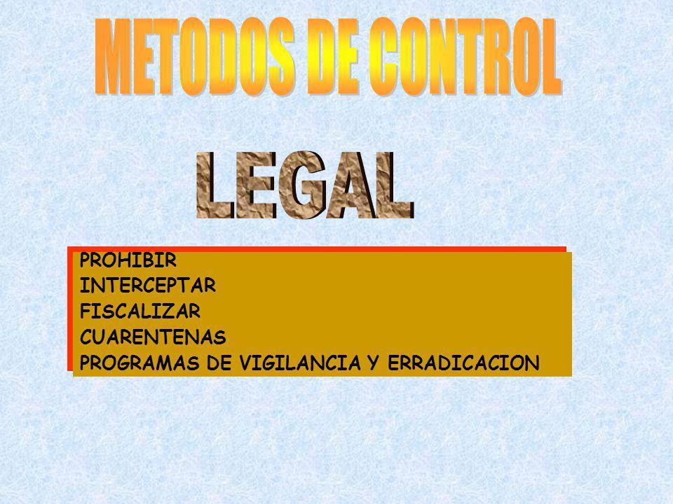 METODOS DE CONTROL LEGAL PROHIBIR INTERCEPTAR FISCALIZAR CUARENTENAS