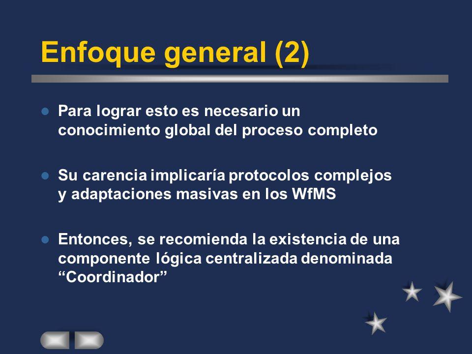 Enfoque general (2) Para lograr esto es necesario un conocimiento global del proceso completo.