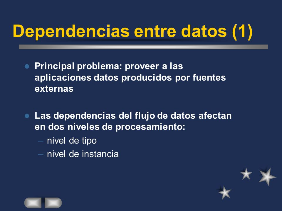 Dependencias entre datos (1)