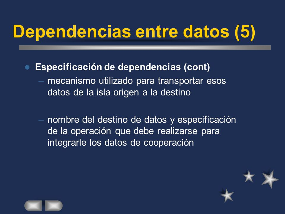 Dependencias entre datos (5)