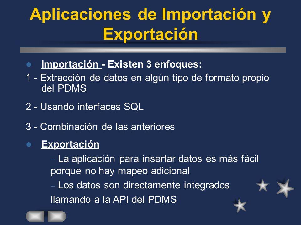 Aplicaciones de Importación y Exportación