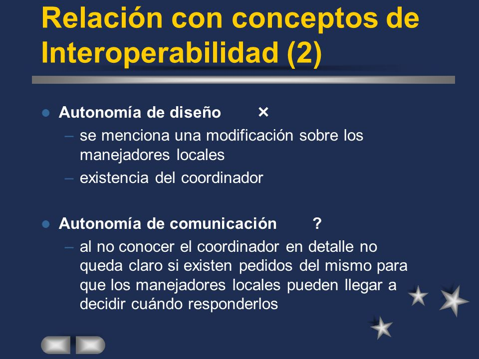 Relación con conceptos de Interoperabilidad (2)