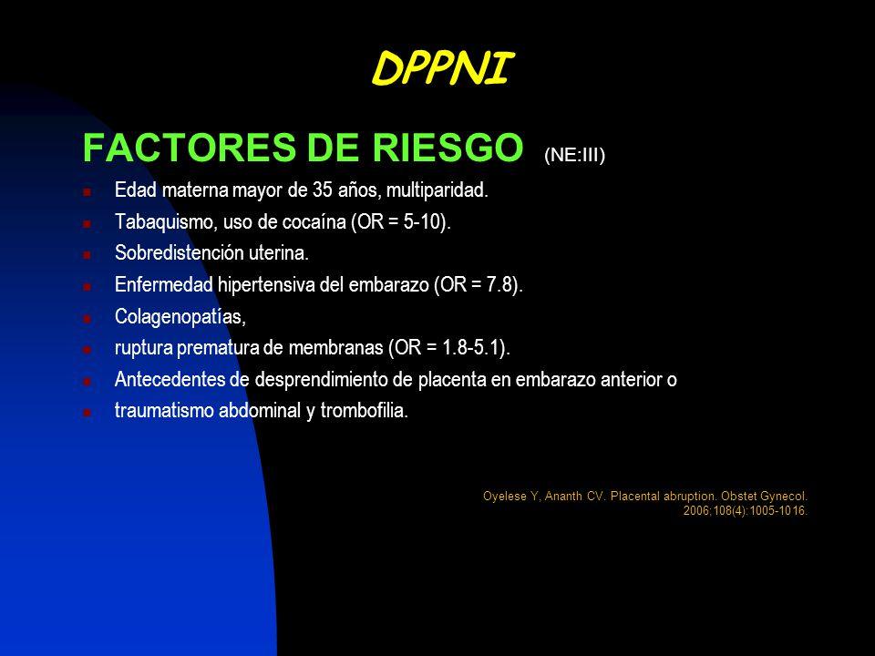 DPPNI FACTORES DE RIESGO (NE:III)