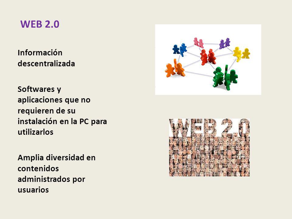 WEB 2.0 Información descentralizada