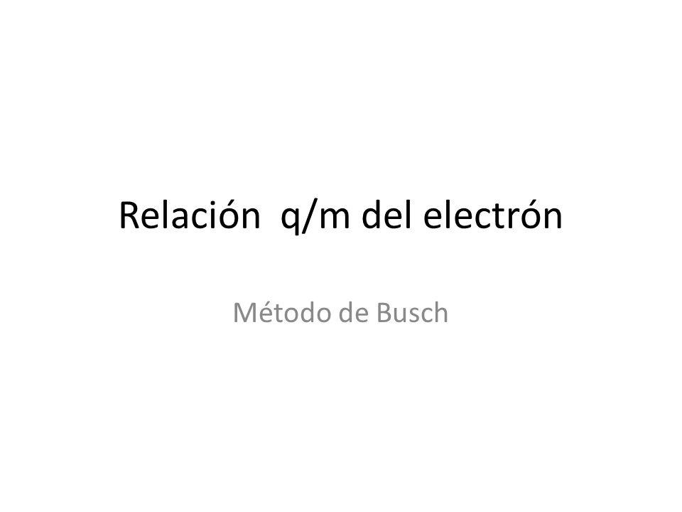 Relación q/m del electrón