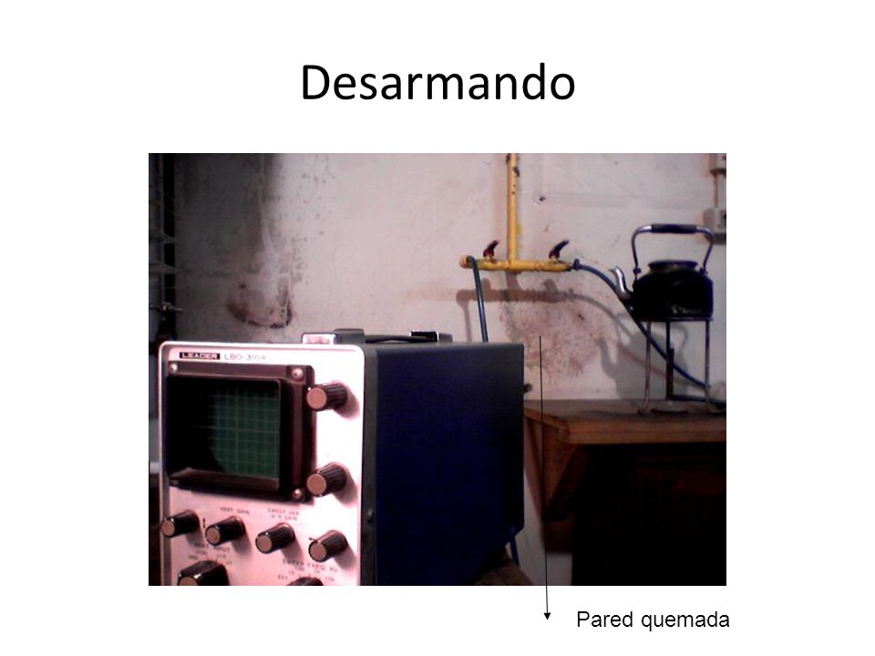 Desarmando Pared quemada