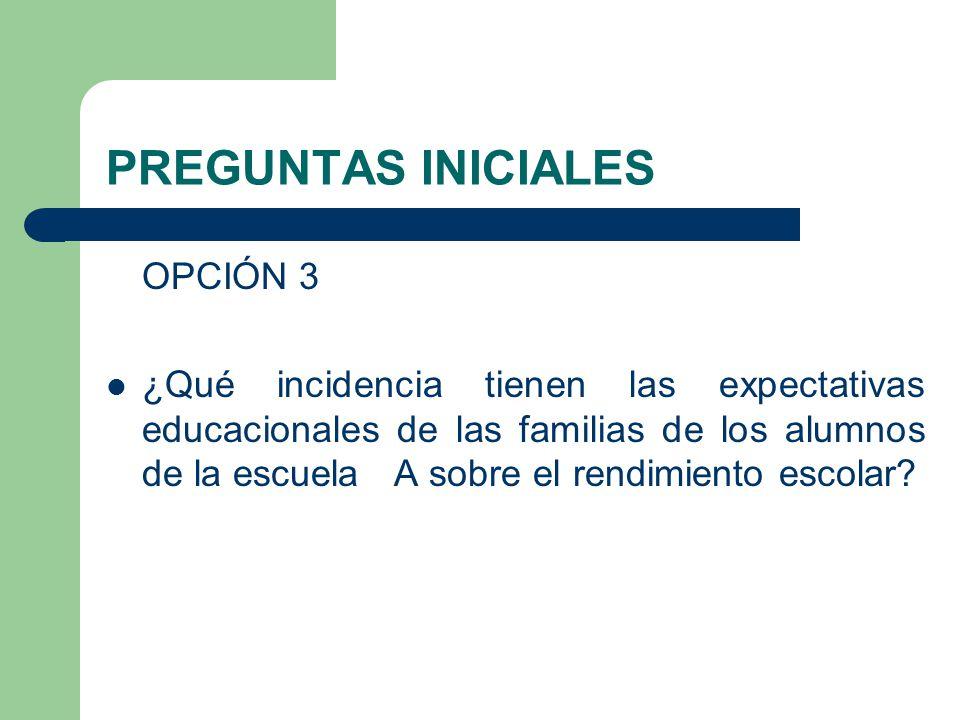 PREGUNTAS INICIALES OPCIÓN 3