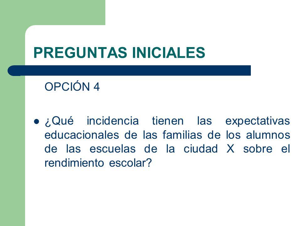 PREGUNTAS INICIALES OPCIÓN 4