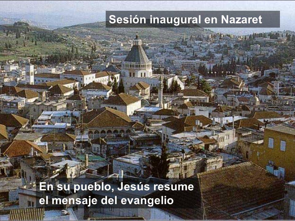 Sesión inaugural en Nazaret
