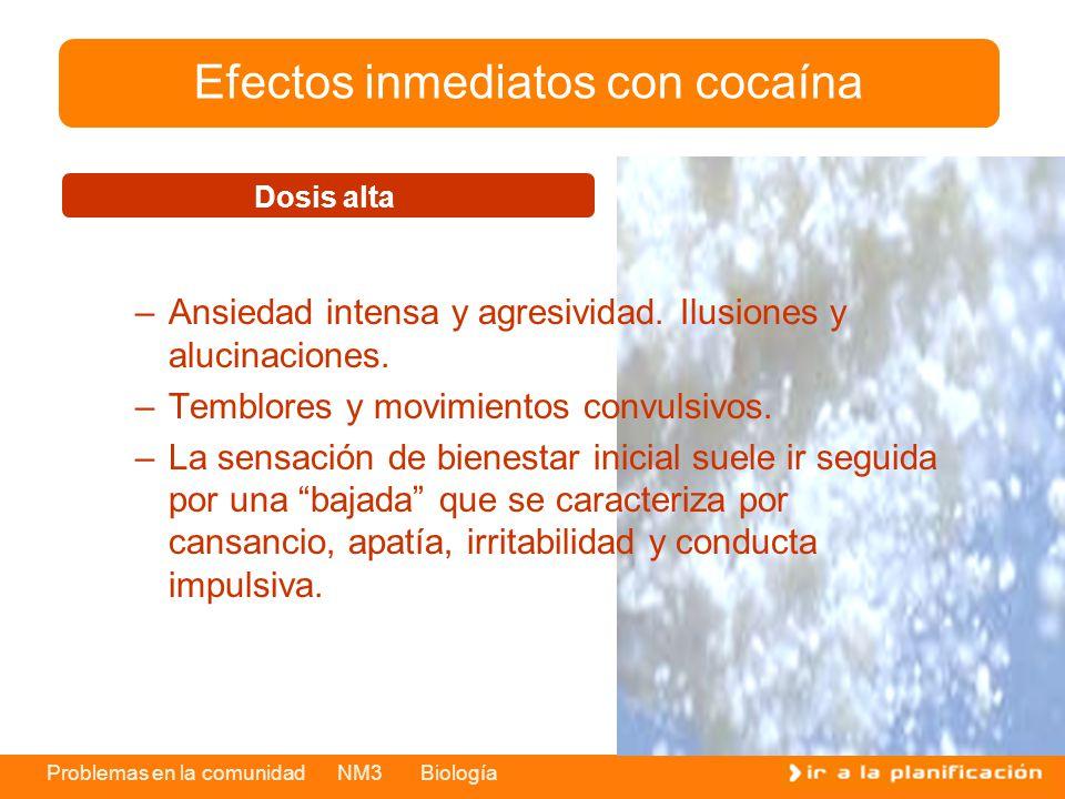 Efectos inmediatos con cocaína