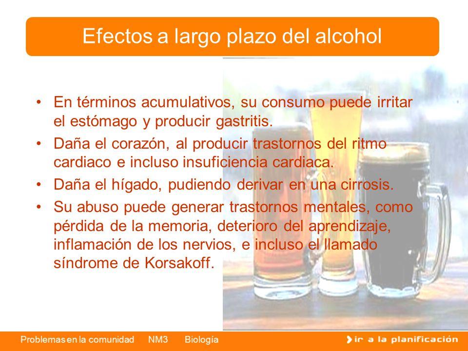 Efectos a largo plazo del alcohol
