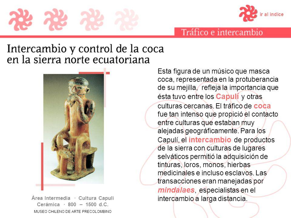 Área Intermedia · Cultura Capulí Cerámica · 800 – 1500 d.C.