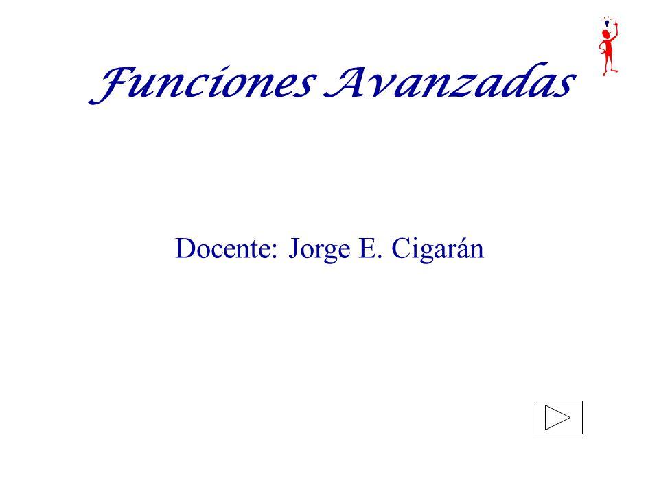 Docente: Jorge E. Cigarán