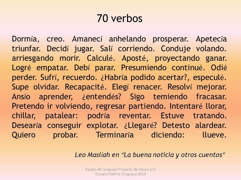 70 verbos