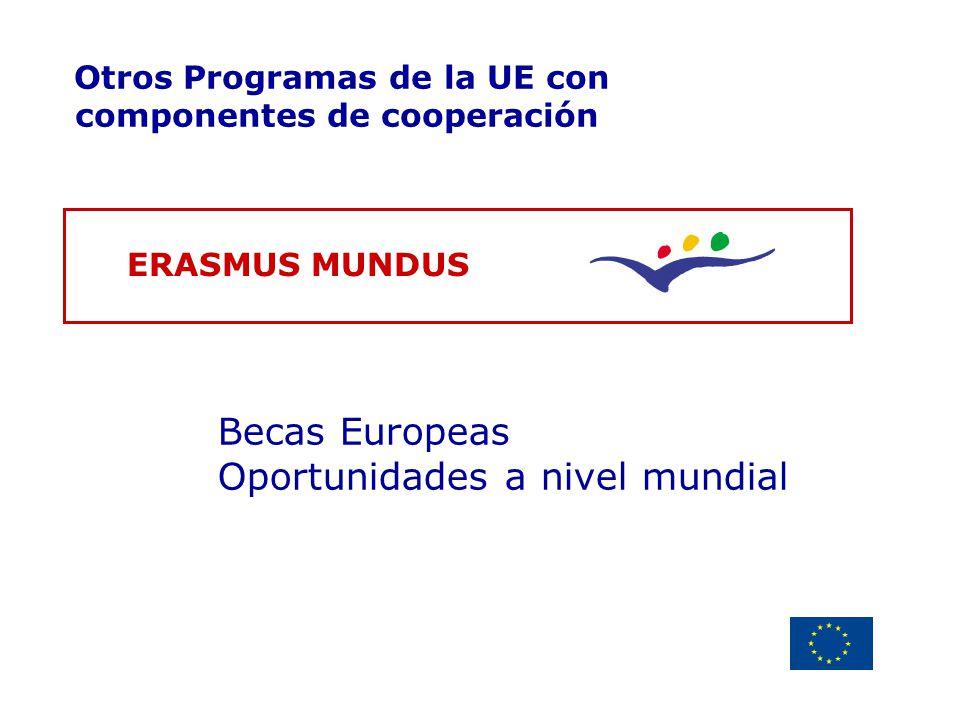 Becas Europeas Oportunidades a nivel mundial