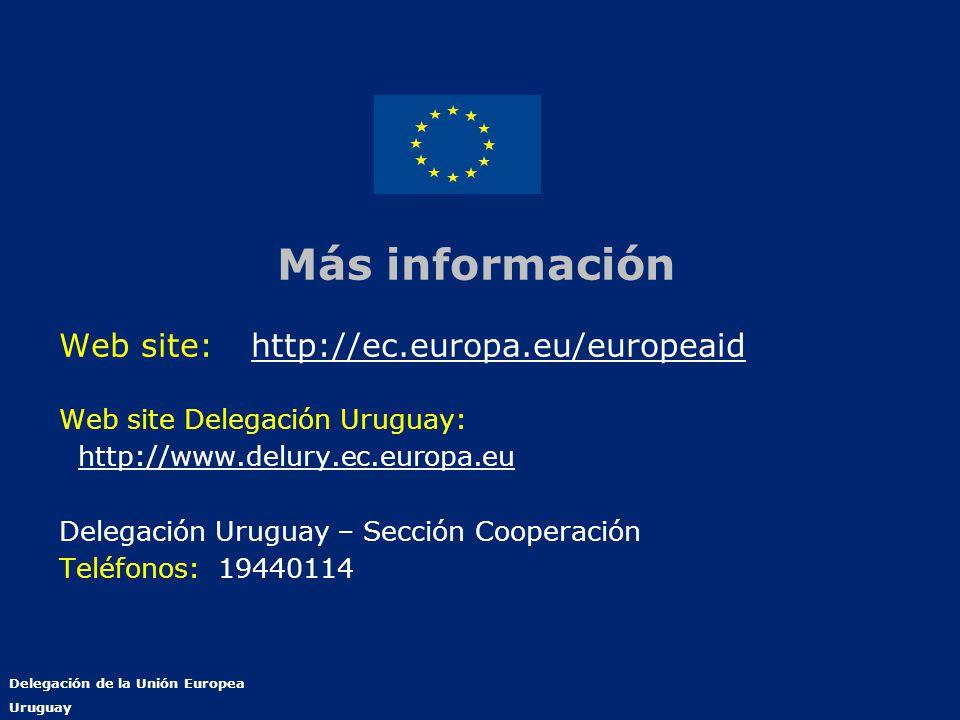 Más información Web site: http://ec.europa.eu/europeaid