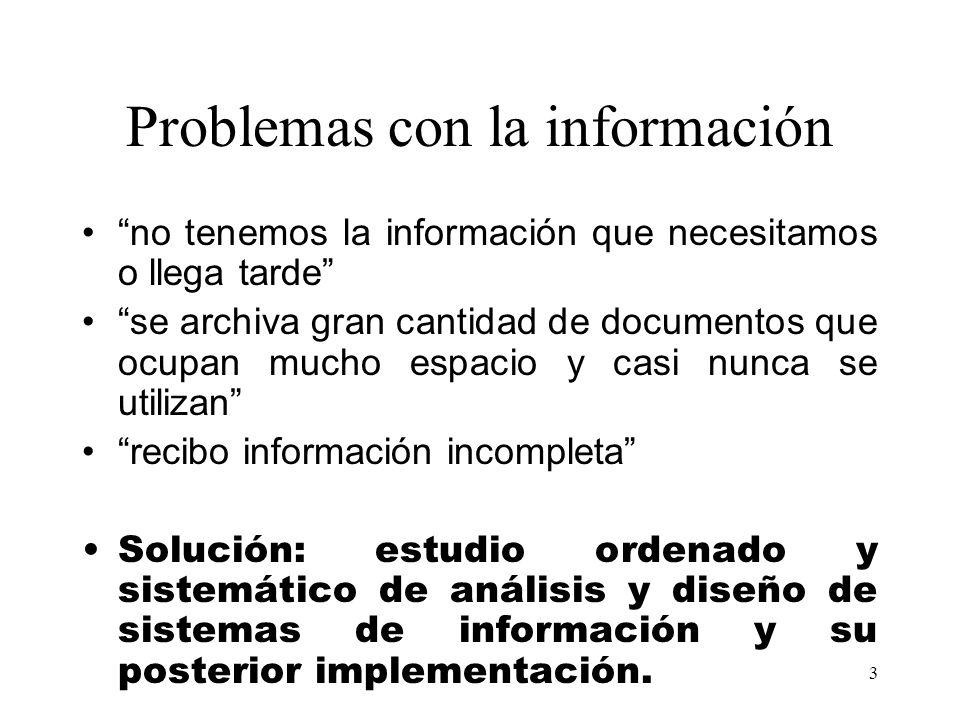 Problemas con la información