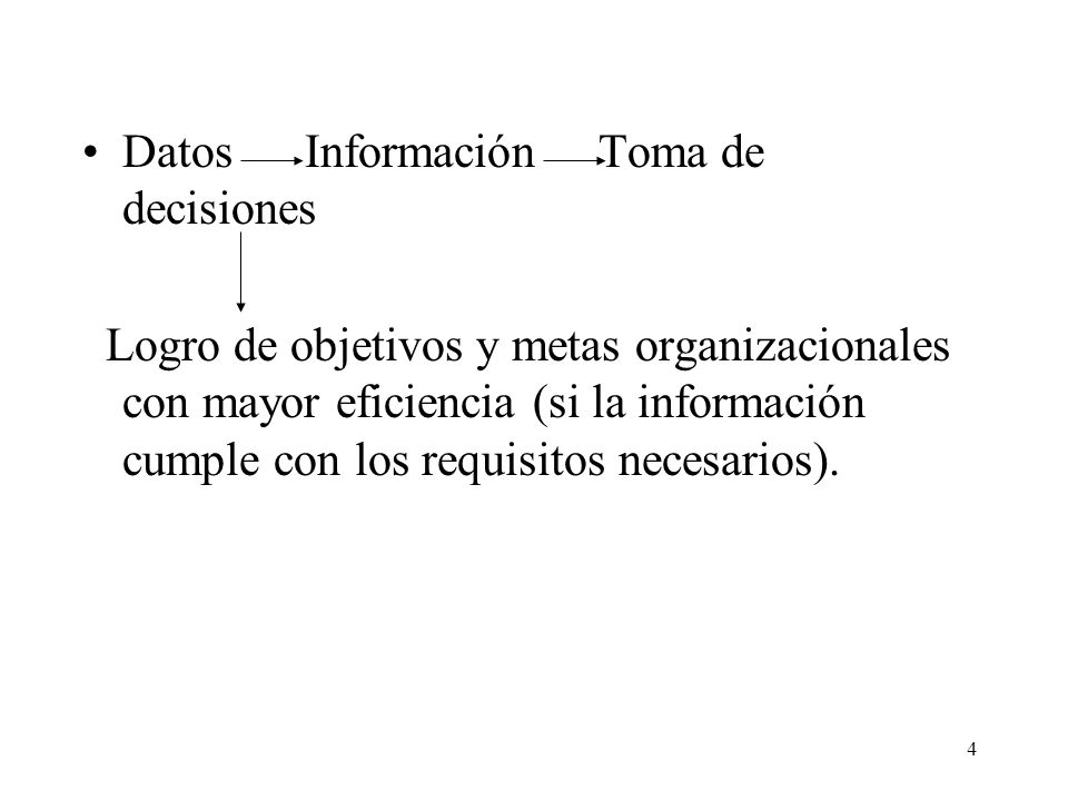 Datos Información Toma de decisiones