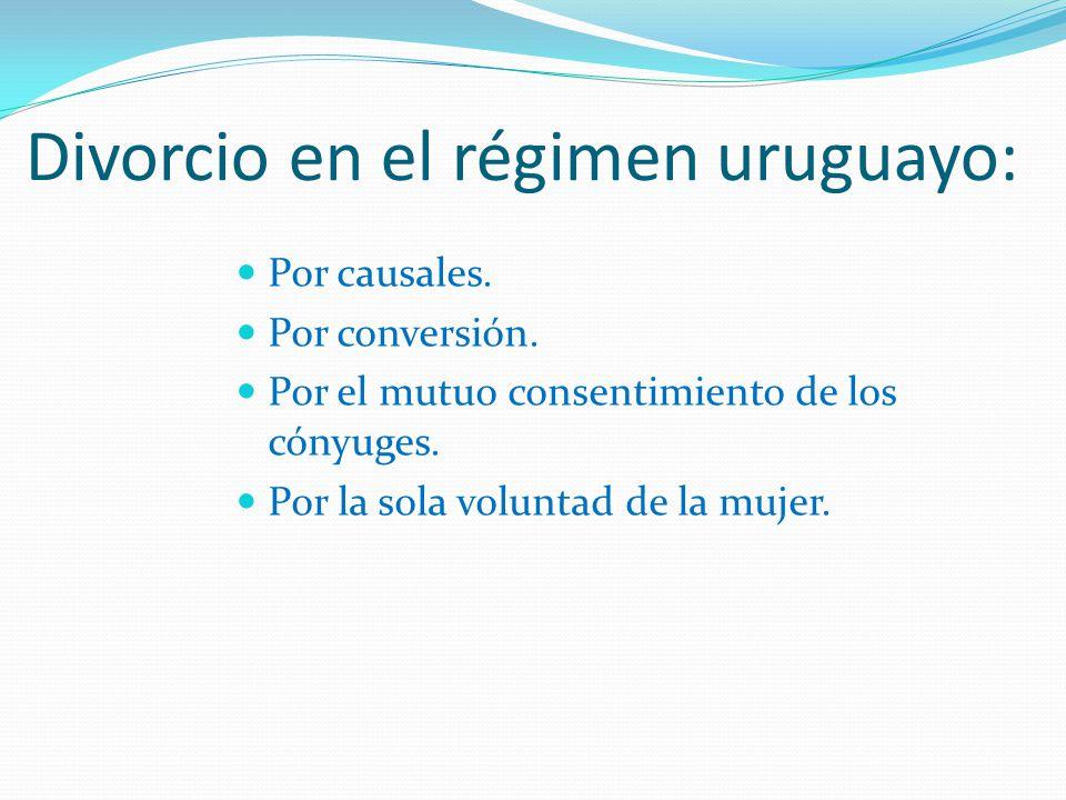 Divorcio en el régimen uruguayo: