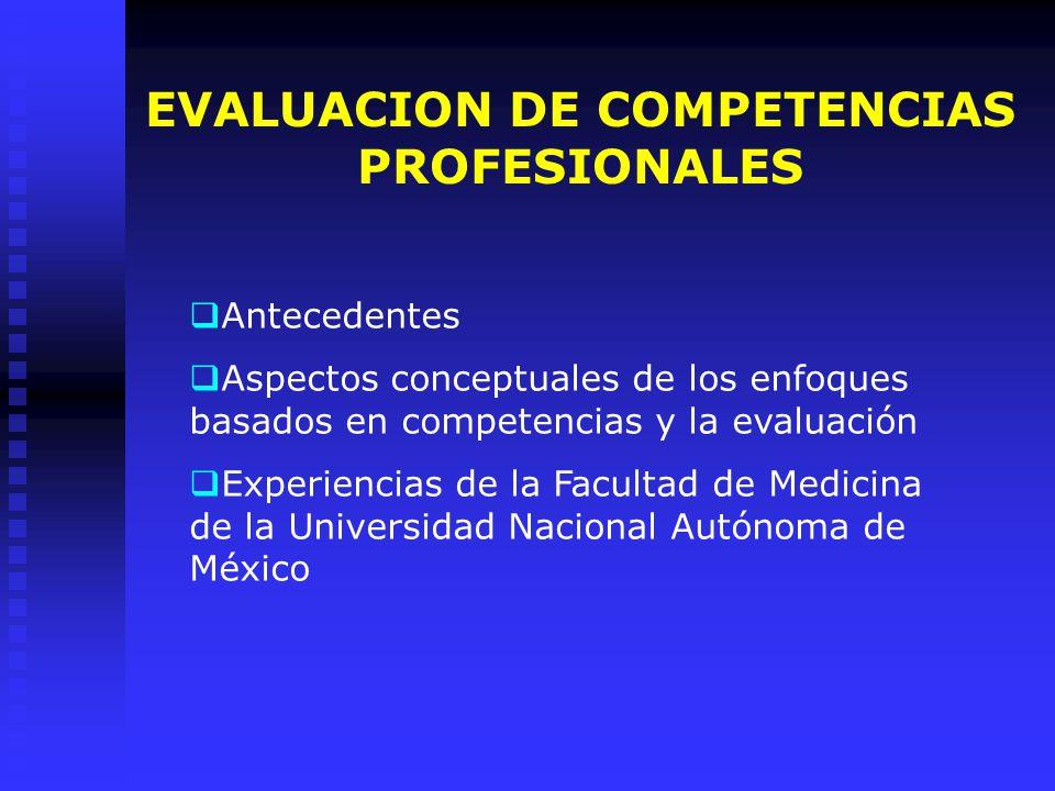 EVALUACION DE COMPETENCIAS PROFESIONALES