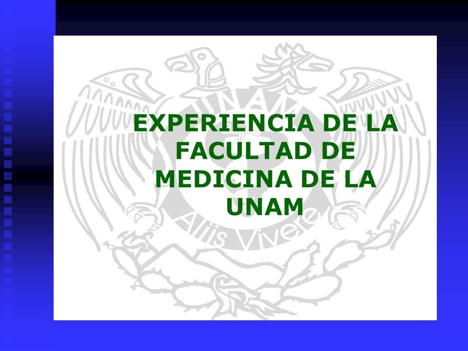 EXPERIENCIA DE LA FACULTAD DE MEDICINA DE LA UNAM