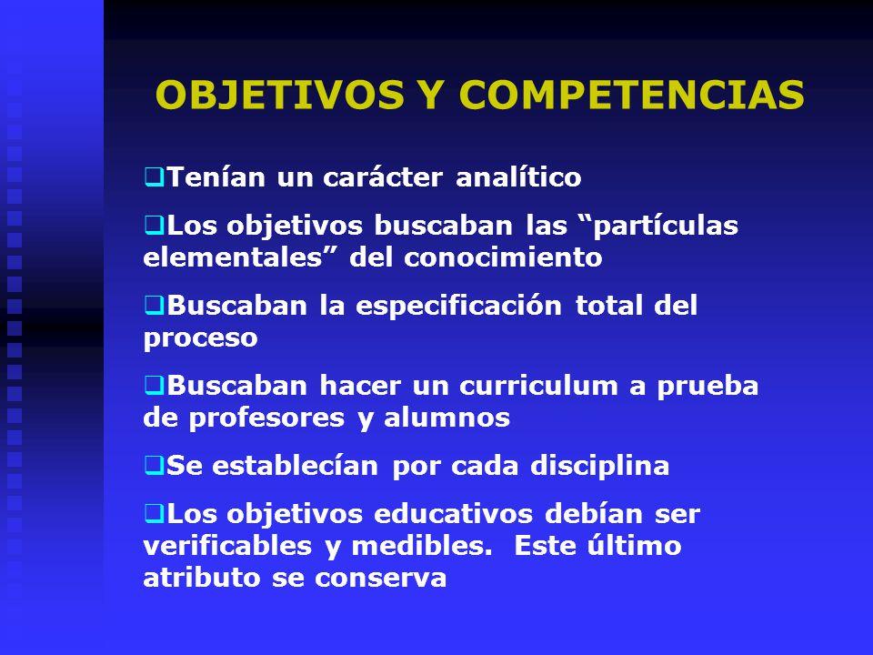 OBJETIVOS Y COMPETENCIAS